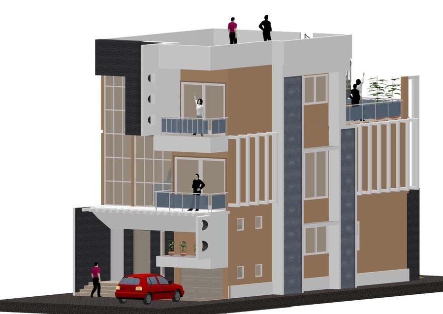 Proposition n°6 du concours Modern Concrete Townhome Design