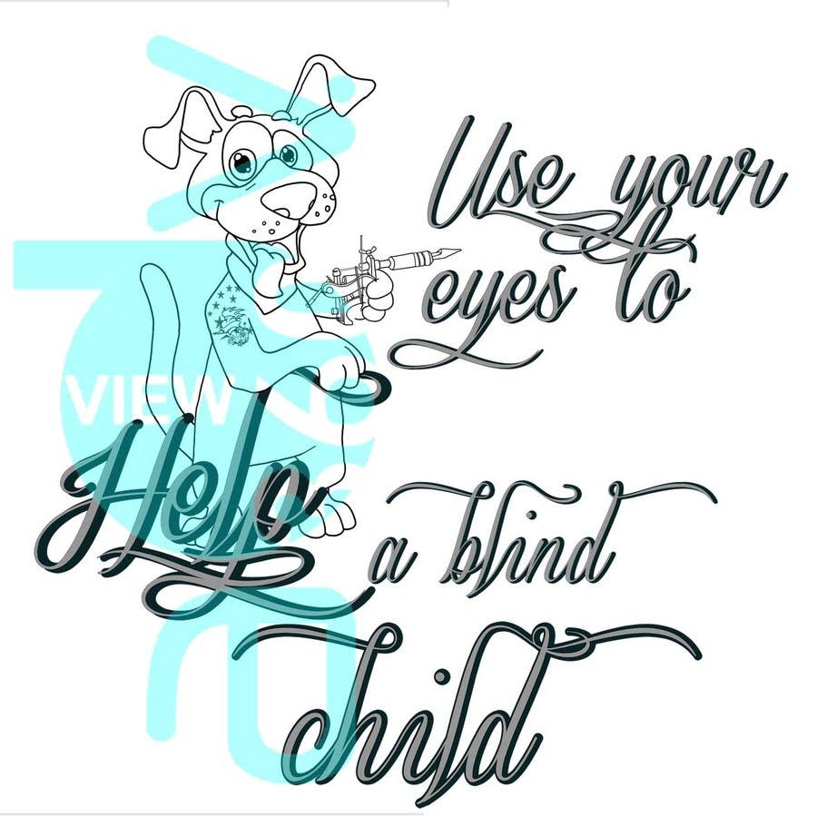 #10 for Cartoon illustration for charity: Use your eyes to help a blind child by juls5