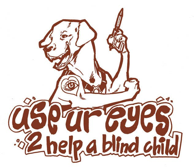 #13 for Cartoon illustration for charity: Use your eyes to help a blind child by ramadhiansanjaya