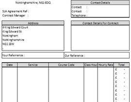 nº 12 pour I need a excel invoice template making par mynads