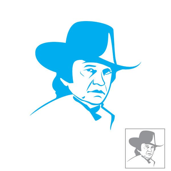 Proposition n°12 du concours Design a Minimalist logo based on Johnny Cash's face