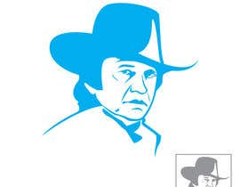 #12 for Design a Minimalist logo based on Johnny Cash's face by Digitalidentity