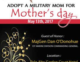 nº 16 pour Military Mothers Day Flyer Template par pinglive2014