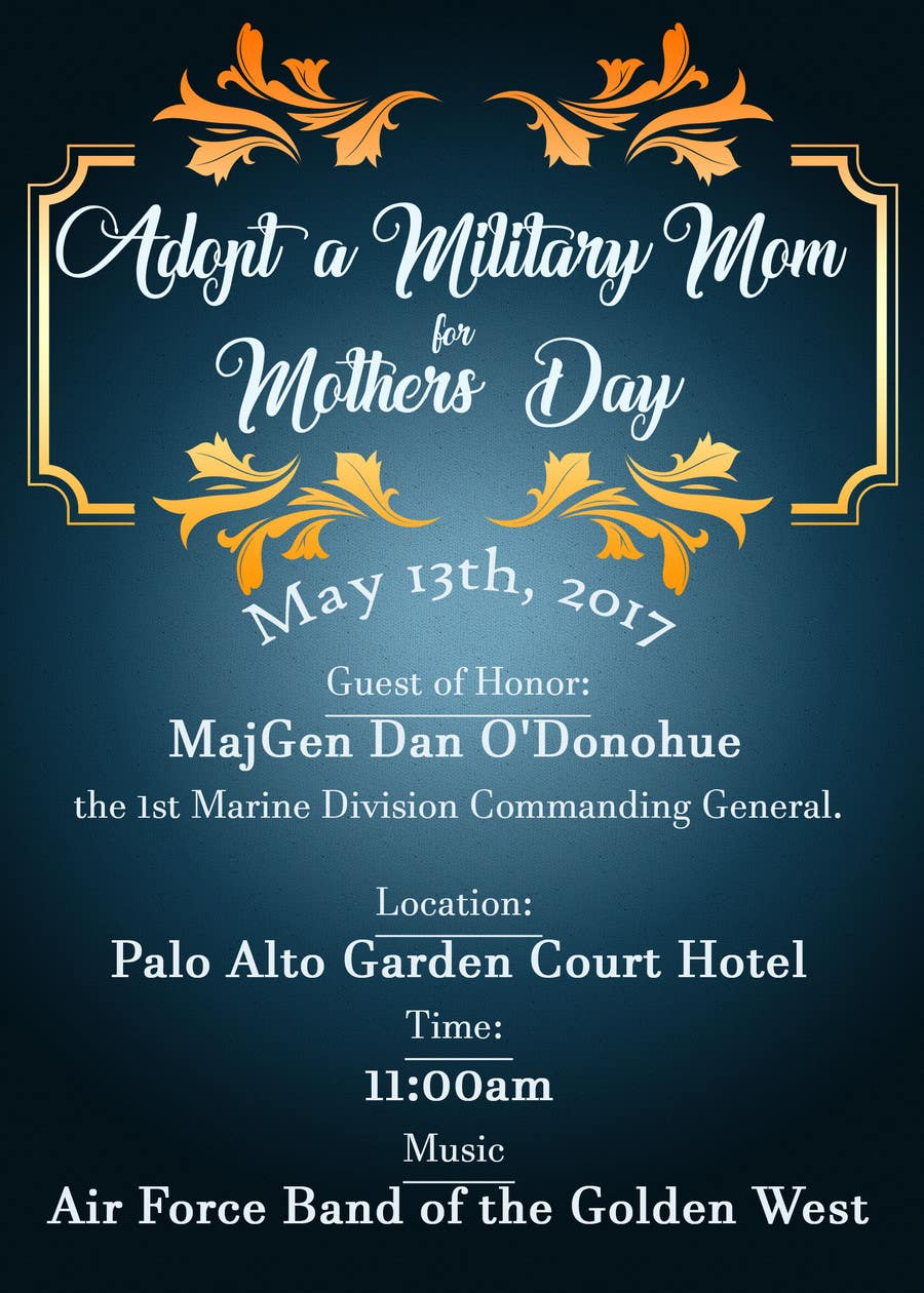 Proposition n°47 du concours Military Mothers Day Flyer Template