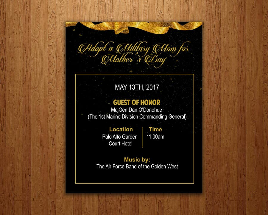 Proposition n°25 du concours Military Mothers Day Flyer Template