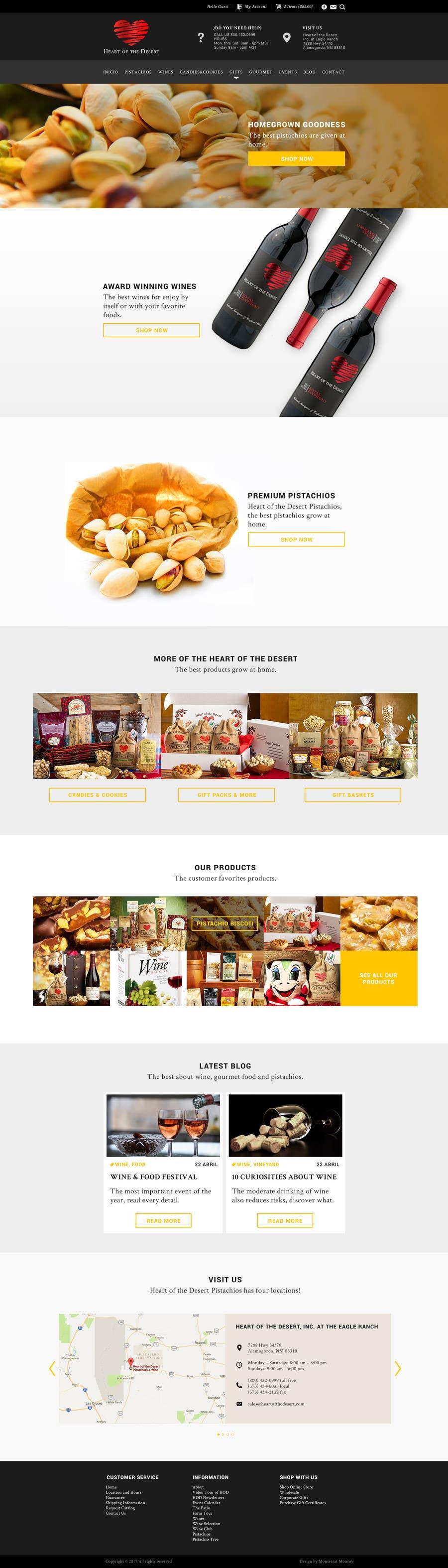 Proposition n°5 du concours Design a Website Mockup for E-commerce Site
