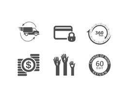 #18 for Design 6 simple Icons by ankurrpipaliya