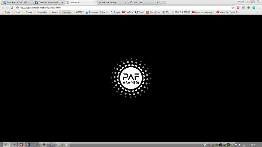 Proposition n°6 du concours Create an Animation for PAF Events