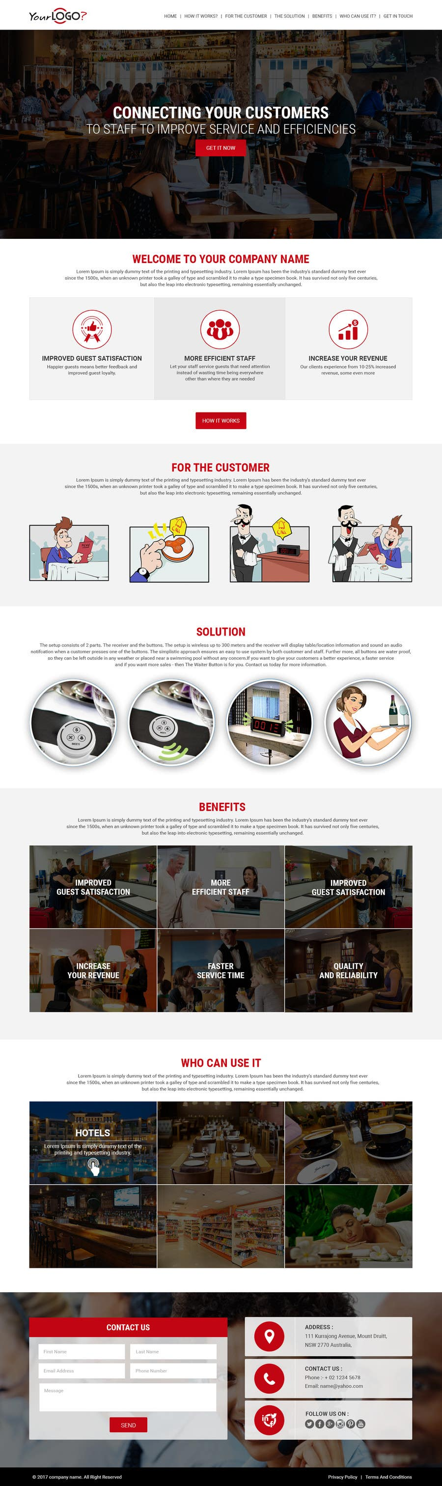 Proposition n°18 du concours Design a Website Mockup for a new product