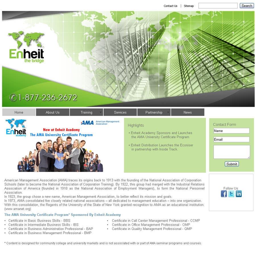 Proposition n°                                        25                                      du concours                                         Letterhead, business card and envelop package design for Enheit