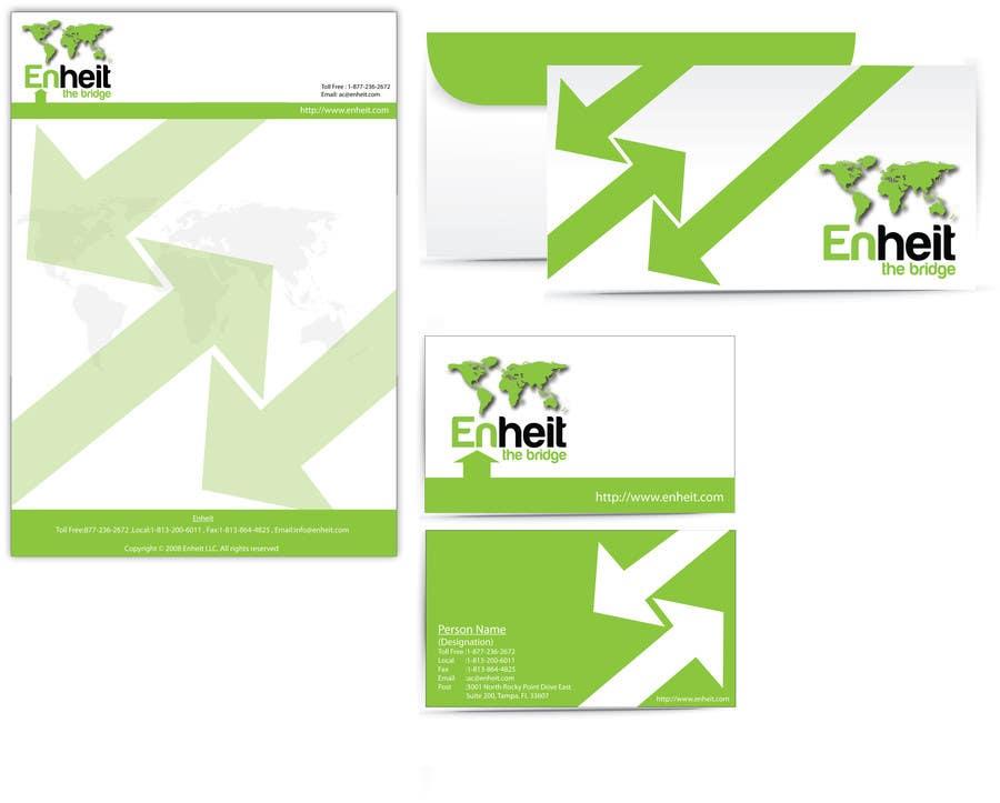 Bài tham dự cuộc thi #                                        9                                      cho                                         Letterhead, business card and envelop package design for Enheit