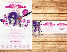 #9 para Print & Packaging Design for Full color, eye catching poster & event ticket for a HOLIDAY GALA por thuanbui