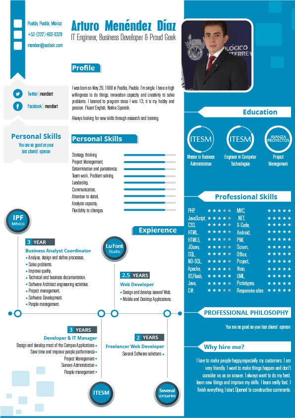 Proposition n°16 du concours i need some design for my resume