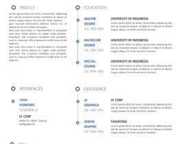 nº 12 pour i need some design for my resume par maisarohpurnomo