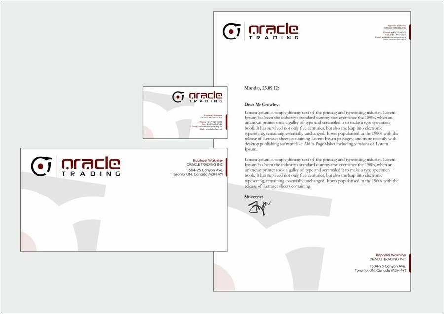 Entry 51 by f5designstudio for business card letterhead design contest entry 51 for business card letterhead design for oracle trading inc colourmoves
