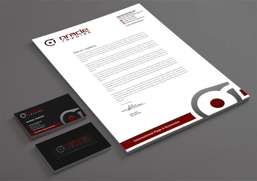Entry 77 by cucgachvn for business card letterhead design for contest entry 77 for business card letterhead design for oracle trading inc colourmoves
