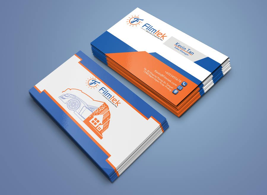 Proposition n°164 du concours Design some Business Cards For Automotive and Instrial Film COmpany