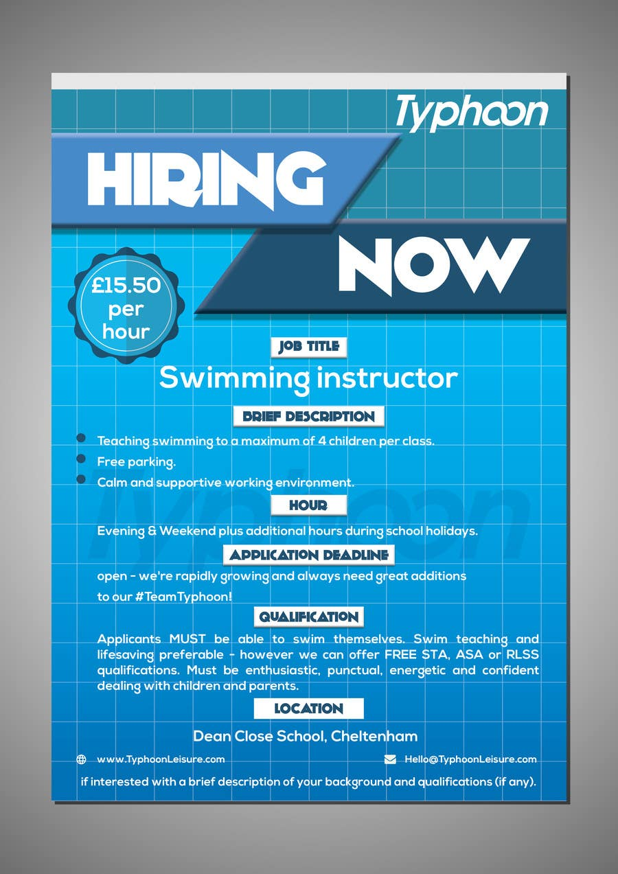 Design Nice Poster For Job Advertisement