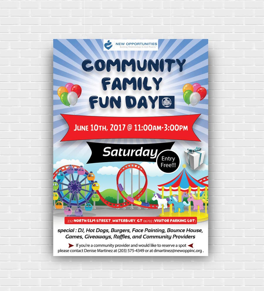 Contest Entry #25 for Design a Flyer for a Community Fun Day!