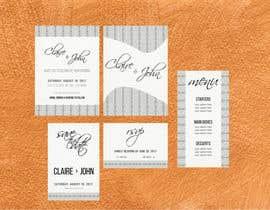 Nro 9 kilpailuun Design a modern Wedding invitation template set käyttäjältä SanOis