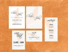 Nro 10 kilpailuun Design a modern Wedding invitation template set käyttäjältä SanOis