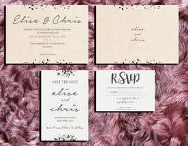 #4 for Design a modern Wedding invitation template set by zahra0501