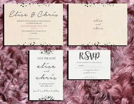 Nro 4 kilpailuun Design a modern Wedding invitation template set käyttäjältä zahra0501