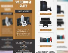 #31 for Design a Flyer for Video Games Warehouse Sales. by prabhjotsajjan