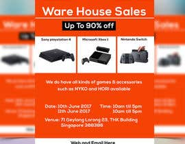 #38 for Design a Flyer for Video Games Warehouse Sales. by nazmulgraphics14