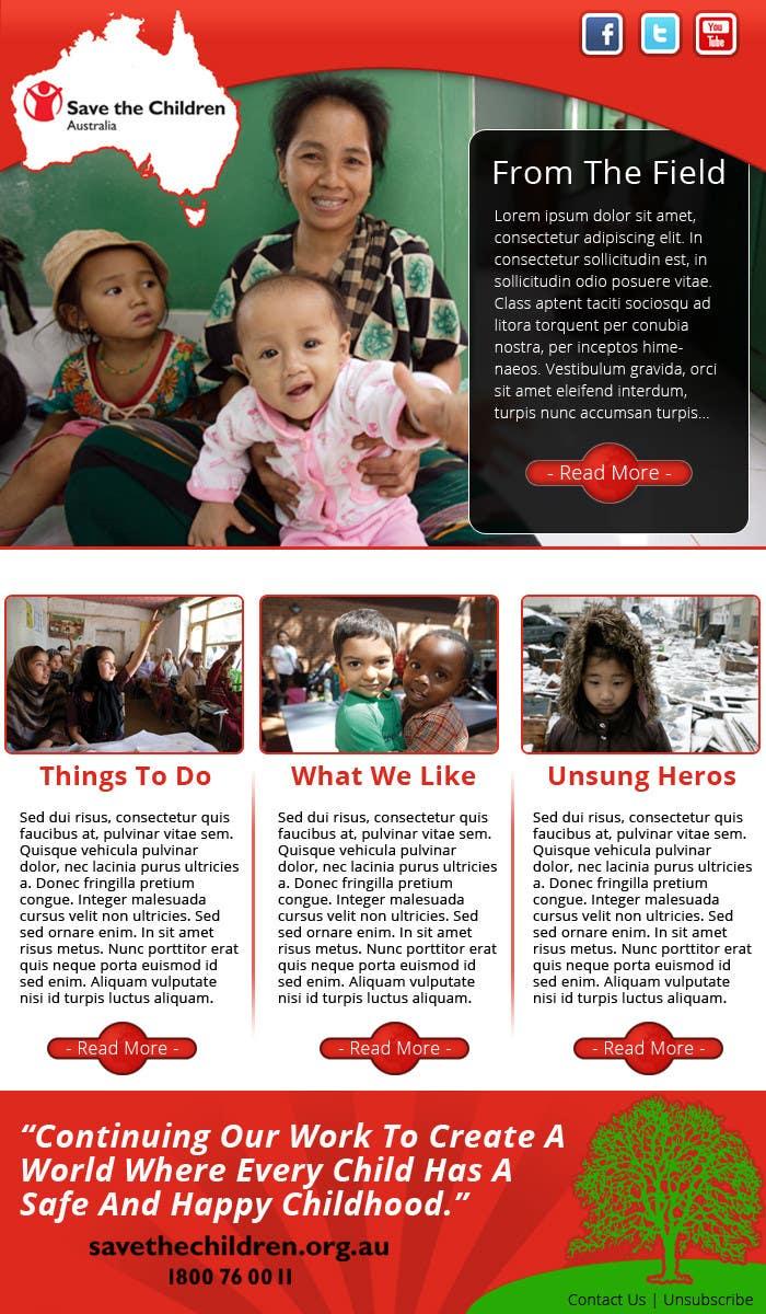 Konkurrenceindlæg #10 for HTML Email for Save the Children Australia