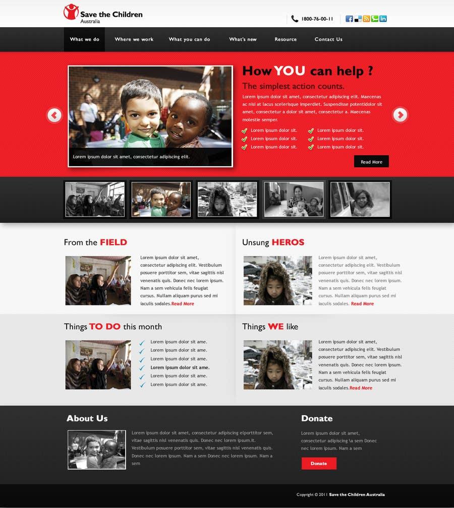 Participación en el concurso Nro.                                        75                                      para                                         HTML Email for Save the Children Australia