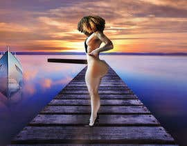 #7 for Sexy Girl on Sunset Dock by Kitteehdesign