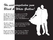 Graphic Design Kilpailutyö #8 kilpailuun Design an Invitation for a cool Black and White Party, printable