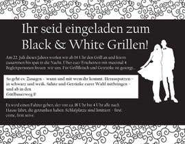#12 for Design an Invitation for a cool Black and White Party, printable by remisv