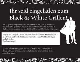 #13 for Design an Invitation for a cool Black and White Party, printable by remisv