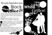 Graphic Design Kilpailutyö #37 kilpailuun Design an Invitation for a cool Black and White Party, printable