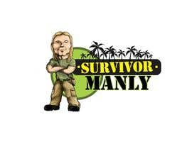 "nº 6 pour Logo with cartoon version of pic , for ""Survivor Manly"" par hodward"