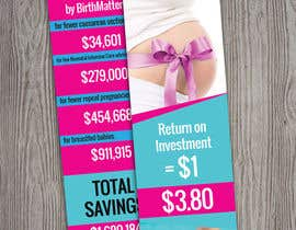 #11 for Design a Brochure - BirthMatters ROI Bookmark by kenzymedo50