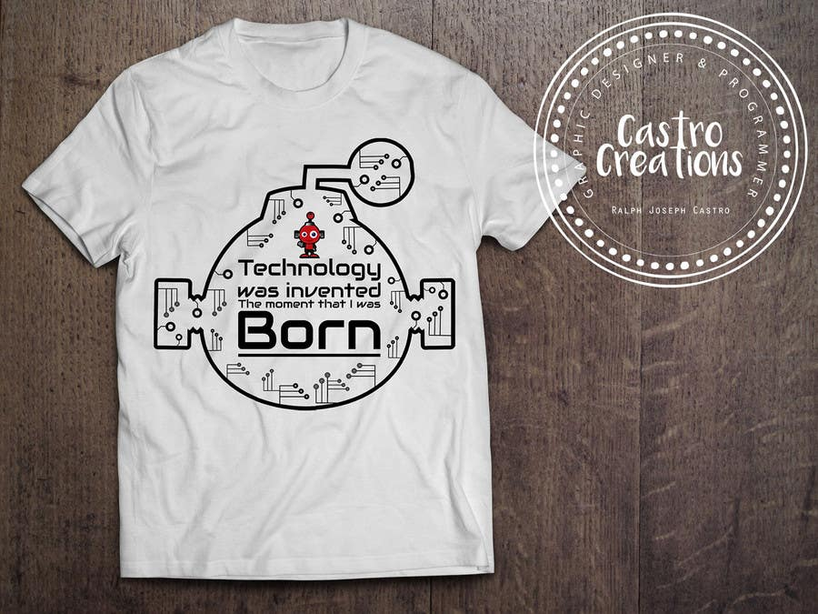 Proposition n°17 du concours Design a FUNNY TECH T-Shirt