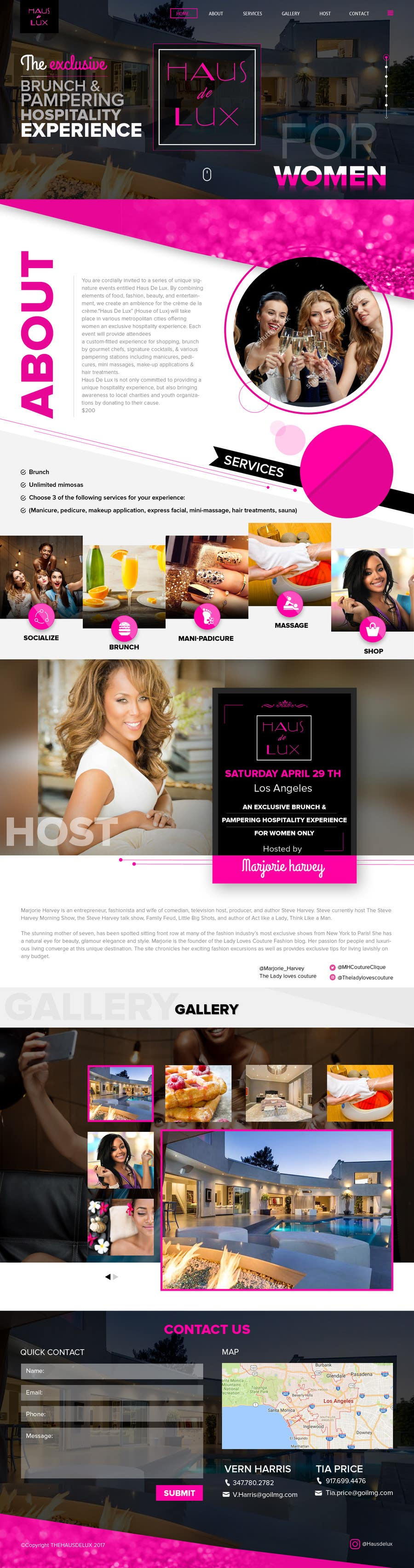 Proposition n°8 du concours Parallax web design for women brunch & pampering experience.