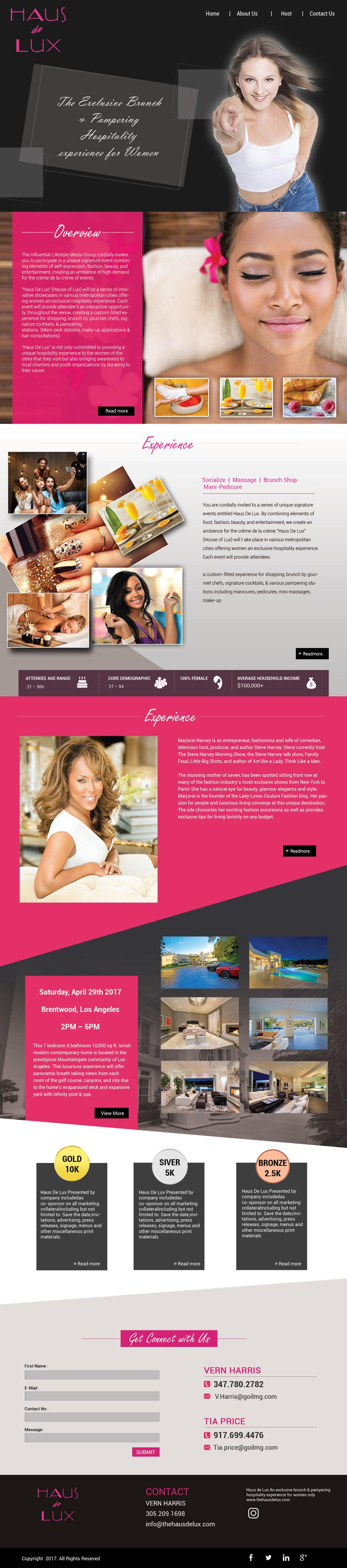 Proposition n°17 du concours Parallax web design for women brunch & pampering experience.