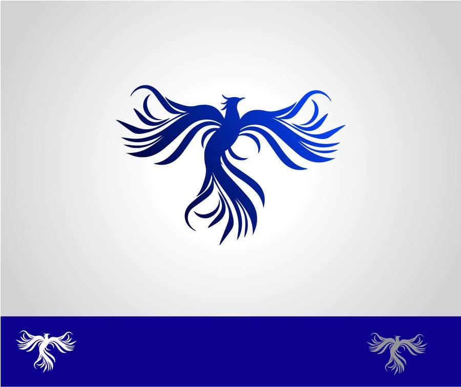 Proposition n°12 du concours I need a blue phoenix to represent my brand