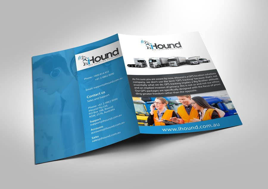 Konkurrenceindlæg #                                        2                                      for                                         Design a Brochure for iHound