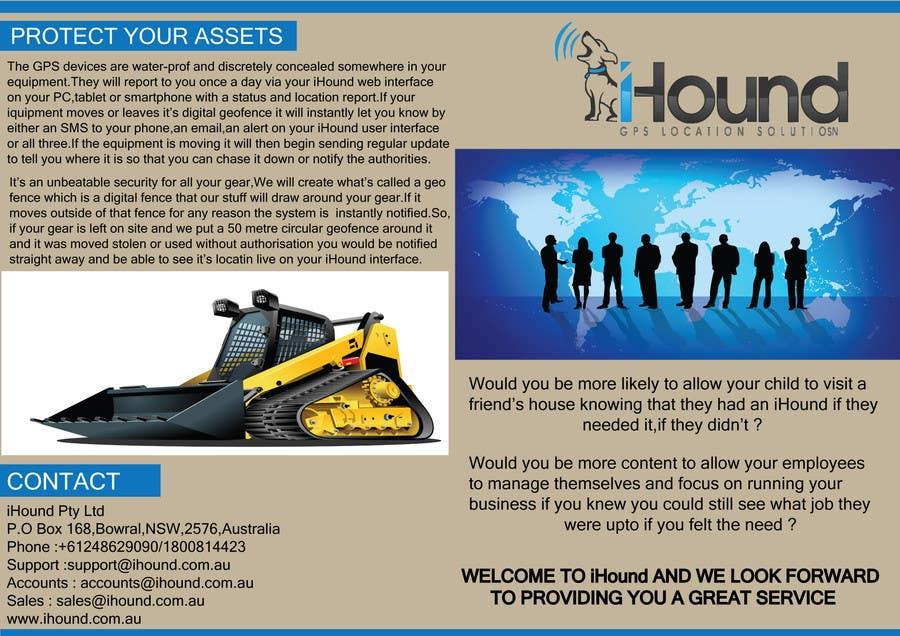 Konkurrenceindlæg #                                        29                                      for                                         Design a Brochure for iHound