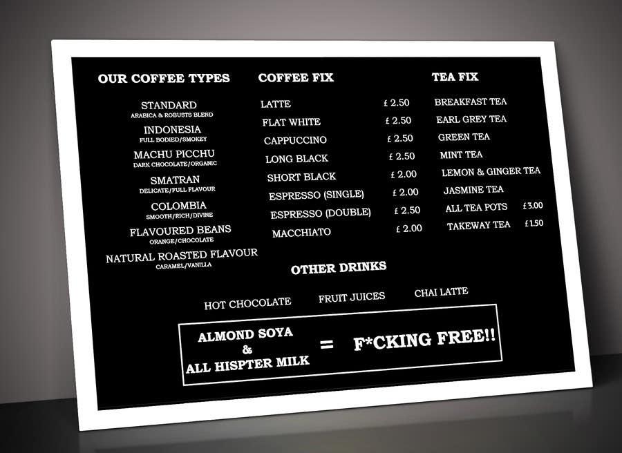Proposition n°62 du concours Coffee Shop Menu Design