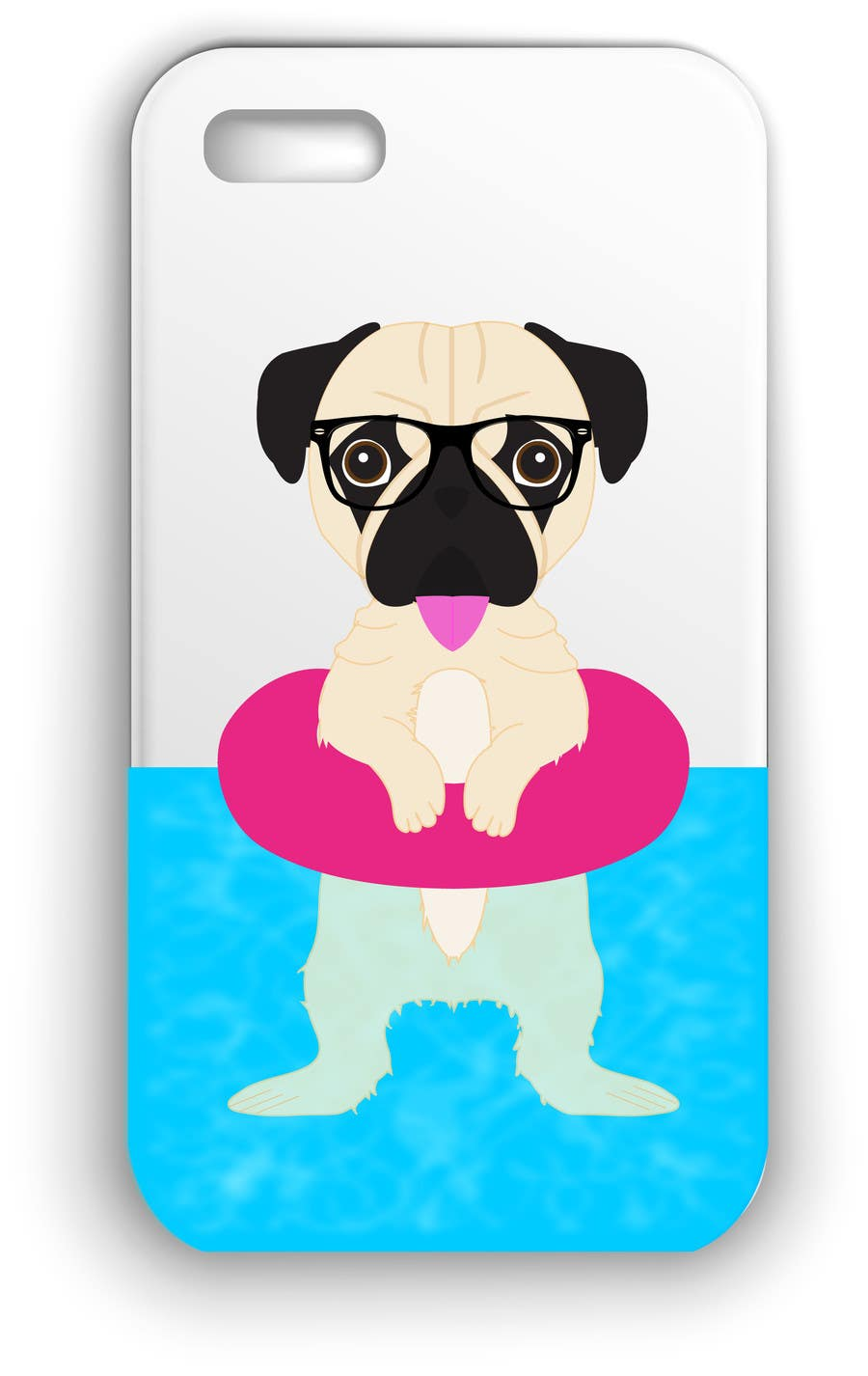 Proposition n°12 du concours Swimming Pug Illustration Required