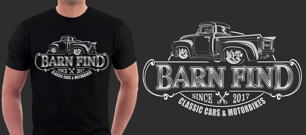 Proposition n°8 du concours t-shirt design for classic car and motorcycle restoration brand