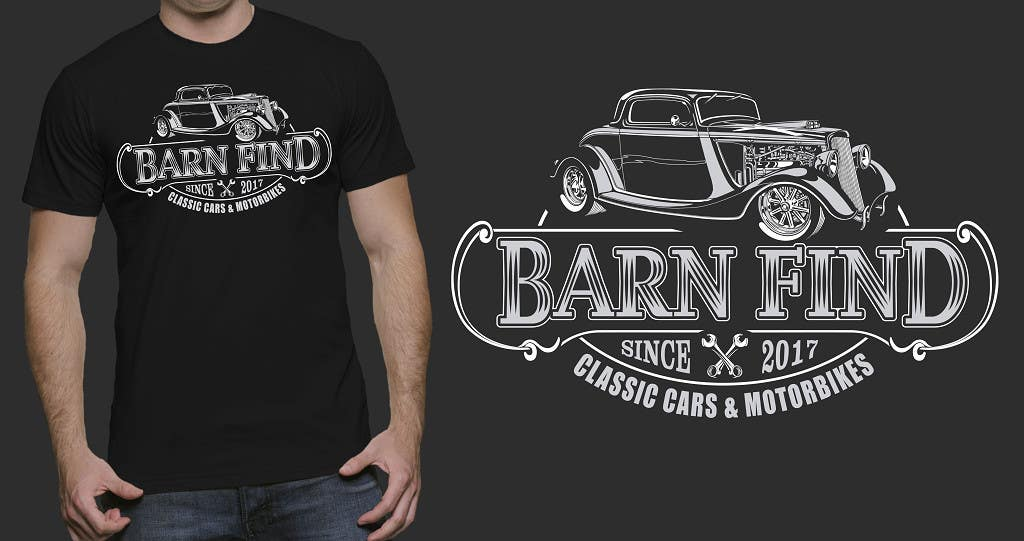 Proposition n°15 du concours t-shirt design for classic car and motorcycle restoration brand