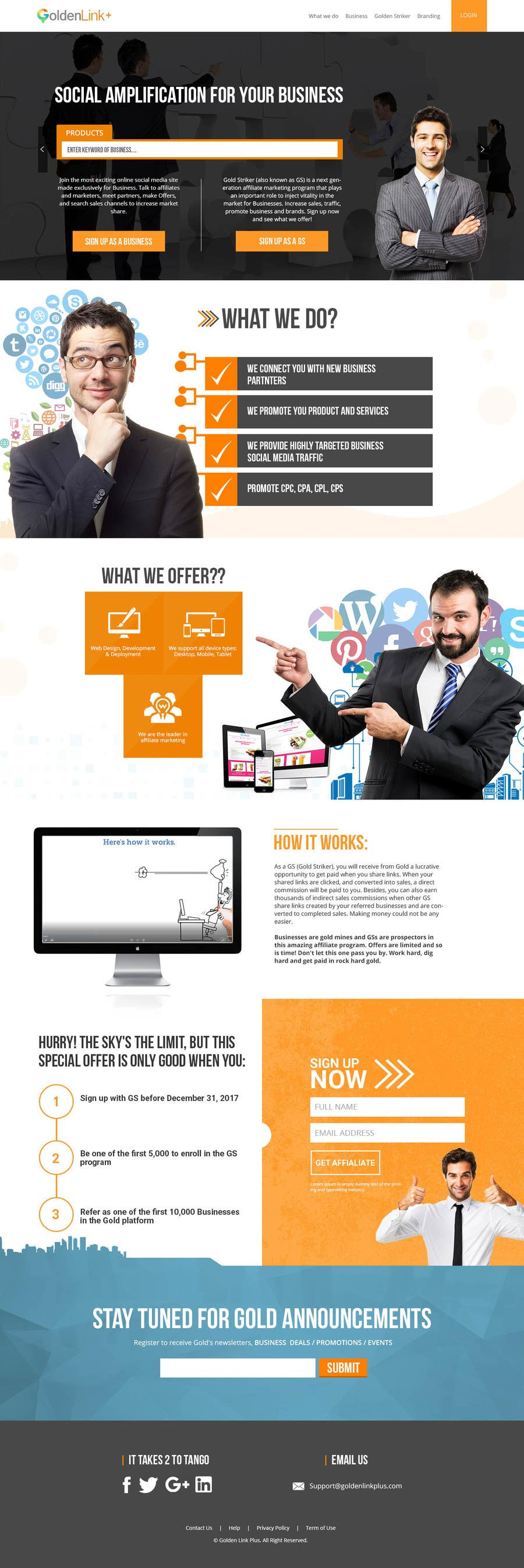 Contest Entry #29 for Landing page for Gold