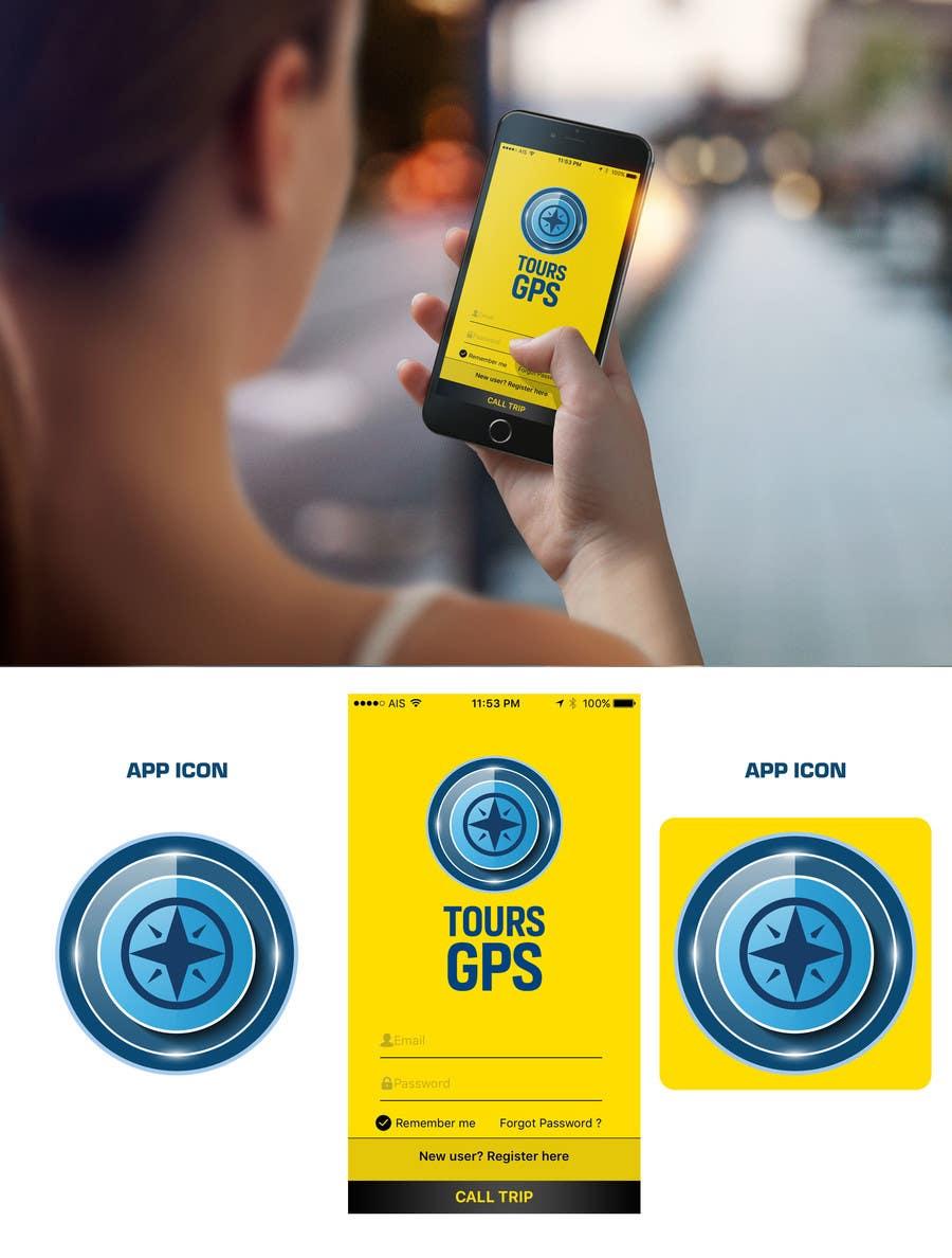Kilpailutyö #                                        95                                      kilpailussa                                         To design a logo for Tours GPS